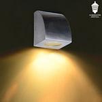 ART 2209 - AI - LÍNEA SUNRISE - APLIQUE UNIDIRECCIONAL CURVO Acero Inoxidable MIC GU10